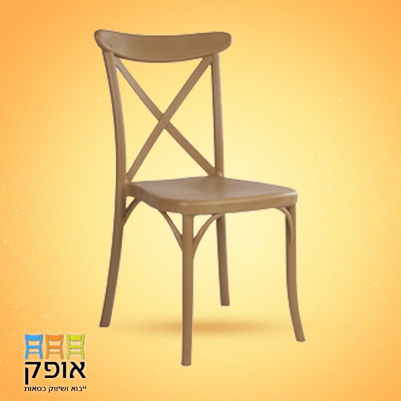כסאות לאולמות - דגם איקס חום