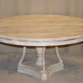 שולחן מעץ - עגול