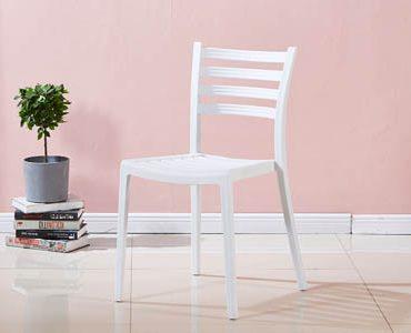 כסא דגם סליה פסים לבן