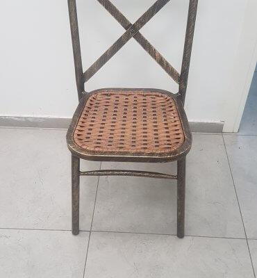 כסא נערם איקס שחור מגולוון - אופק כסאות