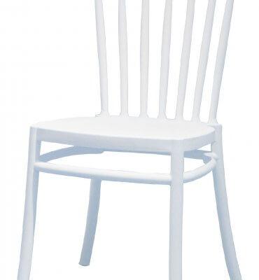 כסא נערם צבע לבן דגם מיתרים סליה