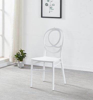 כסא נערם שאנל סליה בצבע לבן